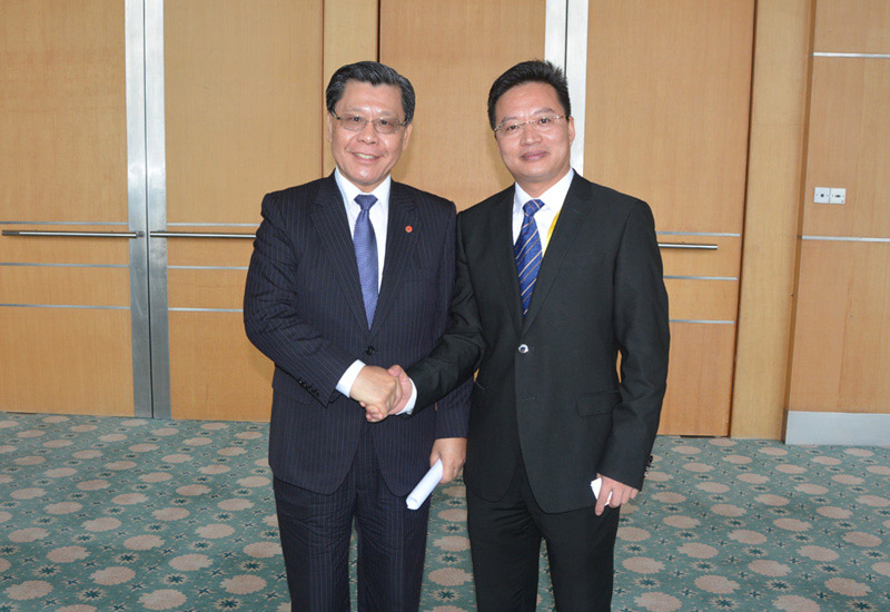 Victor Wong  with Francis Kuo-Hsin Liang(Chairman, Taiwan Trade Center (TTC))