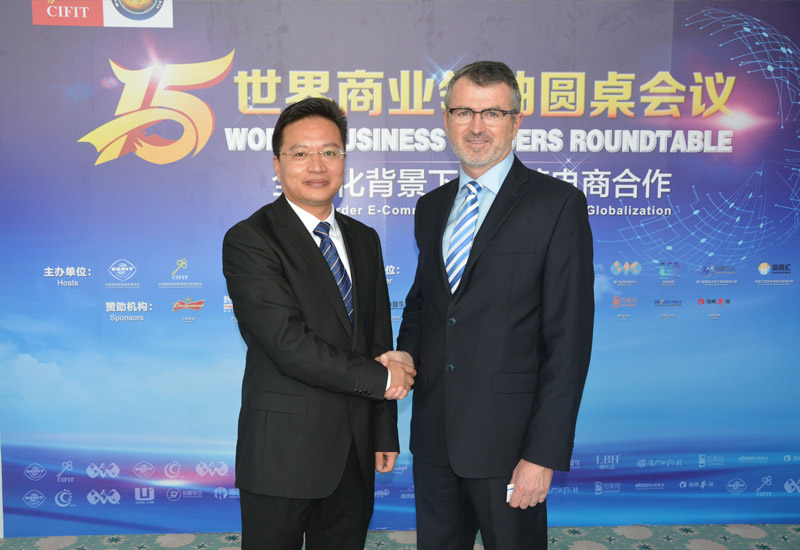 Victor Wong  with Scott Ferguson (Chief Executive Officer, Word Trade Centers Association (WTCA))