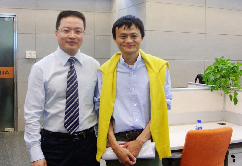 Victor and Alibaba president—Jack Ma