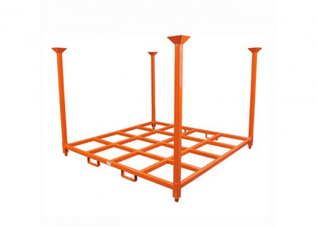 Adjustable heavy duty stack rack system for warehouse storage