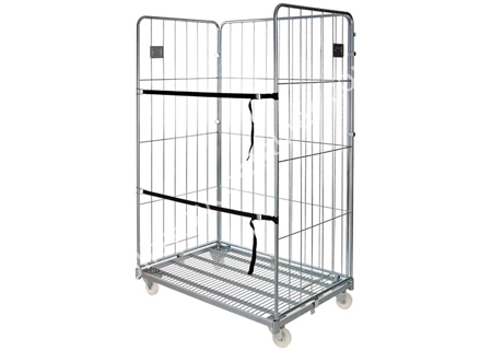 Heavy duty steel logistics trolley storage cage