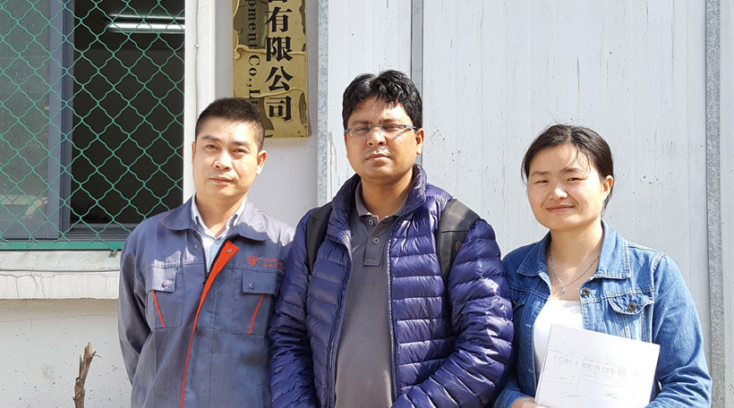 Bangladesh clients visited pallet truck factory