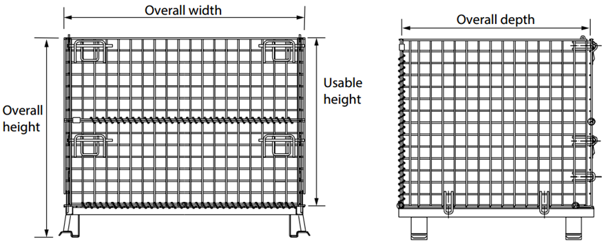 wire container drawing