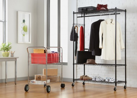 Adjustable steel wire shelving for household series