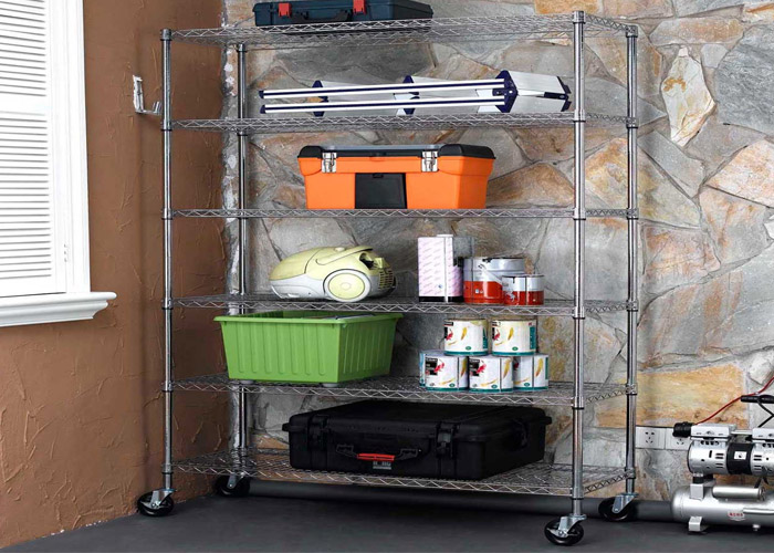 Space saving Adjustable wire shelving for Industrial series